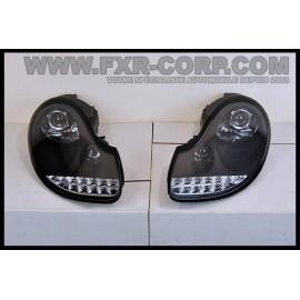PHARE AVANT LEDLIGHT NOIR - PORSCHE BOXSTER 986