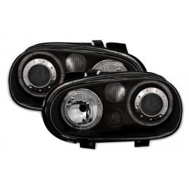phare avant feux avant avec led ou angel eyes ccfl golf 4 tuning fxr corp. Black Bedroom Furniture Sets. Home Design Ideas