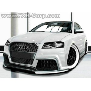 pare choc avant tuning audi a3 8p au look audi tt rs. Black Bedroom Furniture Sets. Home Design Ideas
